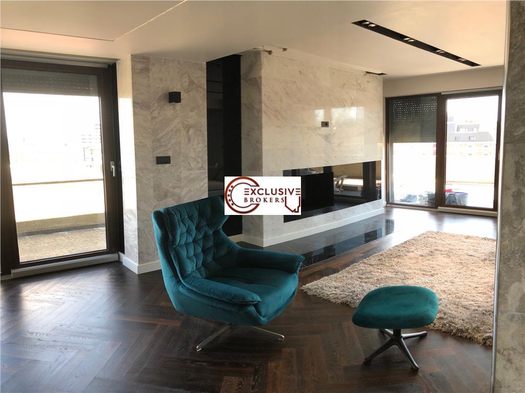 Penthouse Smart Home de exceptie Herastrau! terasa 100 mp!