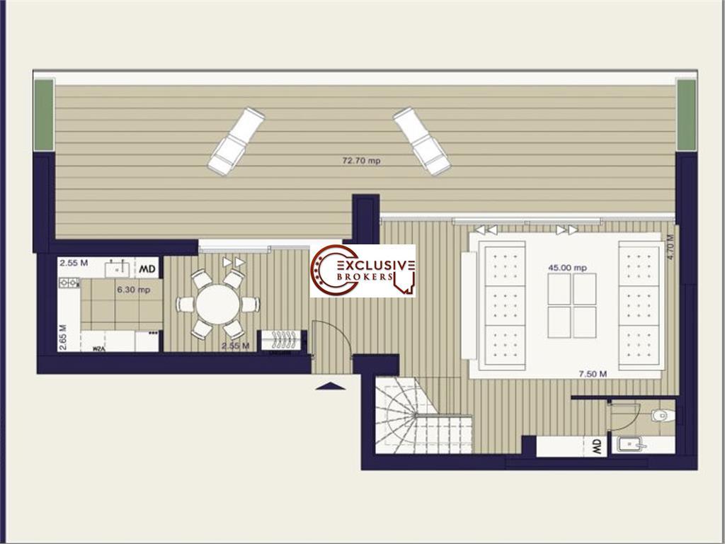 Duplex 4 camere One Herastrau Plaza| 2 locuri parcare|