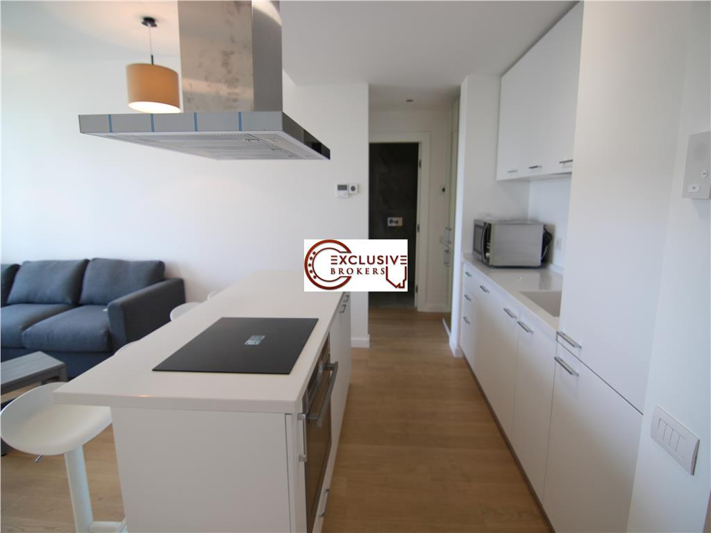 2 camere mobilat Nou One Herastrau Plaza!Loc parcare!