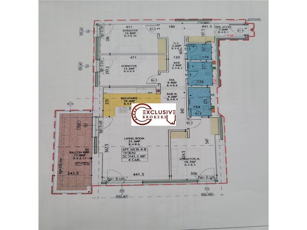 4 Rooms One Herastrau Towers!Spacious Terrace|